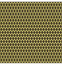Seamless geometric gold pattern vector image