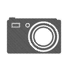 Camera button on white vector image
