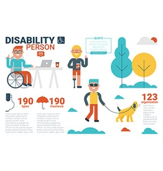 disability person concept vector image