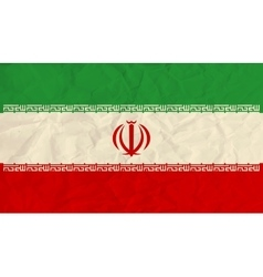 Iran paper flag vector