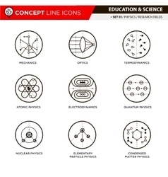Concept line icons physics vector