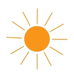 The sun sign on white background vector