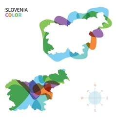 Abstract color map of Slovenia vector image vector image