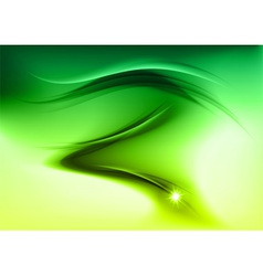 abstract smoke green vector image vector image
