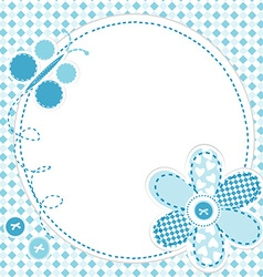 Baby boy greeting card vector image vector image