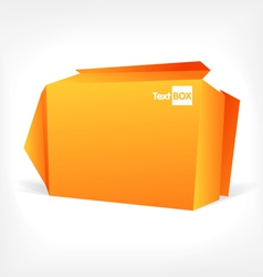 Background of polygonal origami box vector image vector image