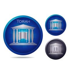 blue torah vector image