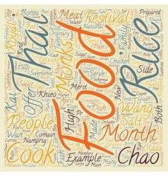 Chao wang food and thai food of each festival text vector