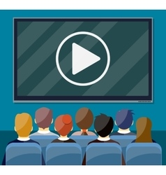 Cinema business video presentation vector