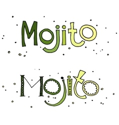 Cocktail mojito vector