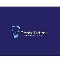 Dental ideas abstract logo template tooth vector
