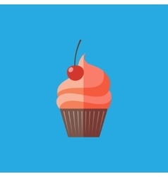 Flat cupcake vector