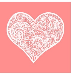 Hand drawing heart card for saint valentines day vector
