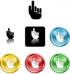 hand icon symbol vector image vector image