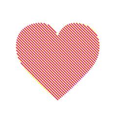 Heart modern with editable line vector