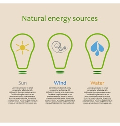 Infographics of natural energy sources vector