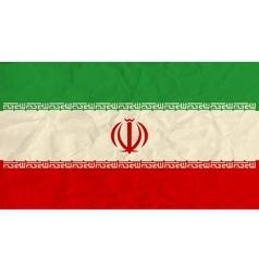 Iran paper flag vector image