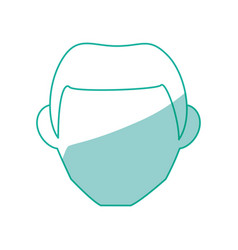 isolated man face vector image