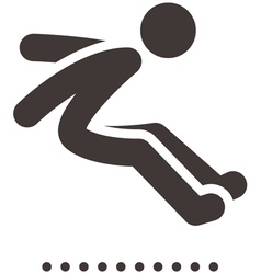 long jump icon vector image