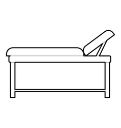 Medical bed icon outline style vector image vector image