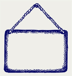 Sign board with rope vector image