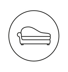 Soft sofa icon vector