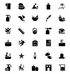 Spa icons 2 vector