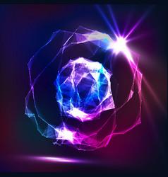 Splash particles connection structure digital vector