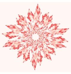 Star abstract pink vector