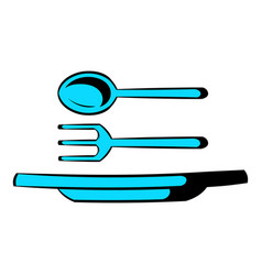Utensils icon cartoon vector