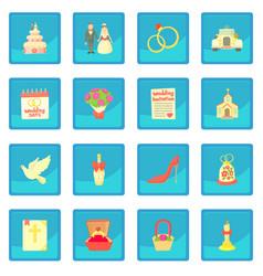 Wedding icon blue app vector
