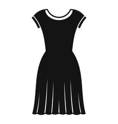 Woman dress icon simple style vector image vector image