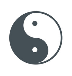 yin yang symbol isolated icon vector image