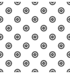 Beer bottle cap pattern simple style vector image