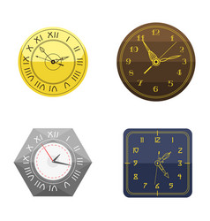 Wall clock circle sign with chronometer pointer vector