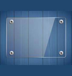 Transparent glass plate mock up vector