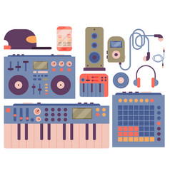 Hip hop accessory musician instruments breakdance vector