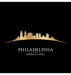 Philadelphia pennsylvania city skyline silhouette vector