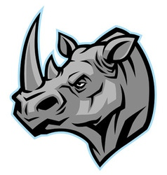 Rhino head mascot vector