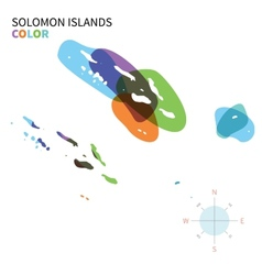 Abstract color map of solomon islands vector