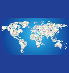 flowering earth vector image