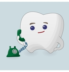 Tooth with phone vector