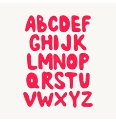 Alphabet hand drawn letters isolated on dark vector