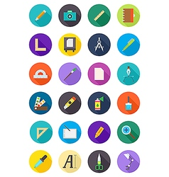 Color round design icons set vector