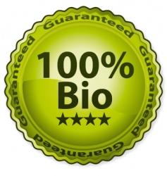 100 bio vector image
