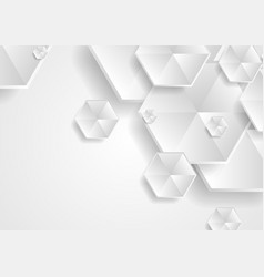 abstract grey hexagons technology background vector image