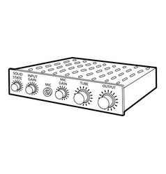 amplifier icon outline style vector image