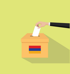 Armenia vote election concept with vector