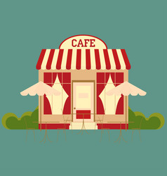 Cafe street shop building vector