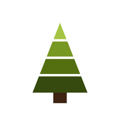 Christmas tree made of geometric shapes vector